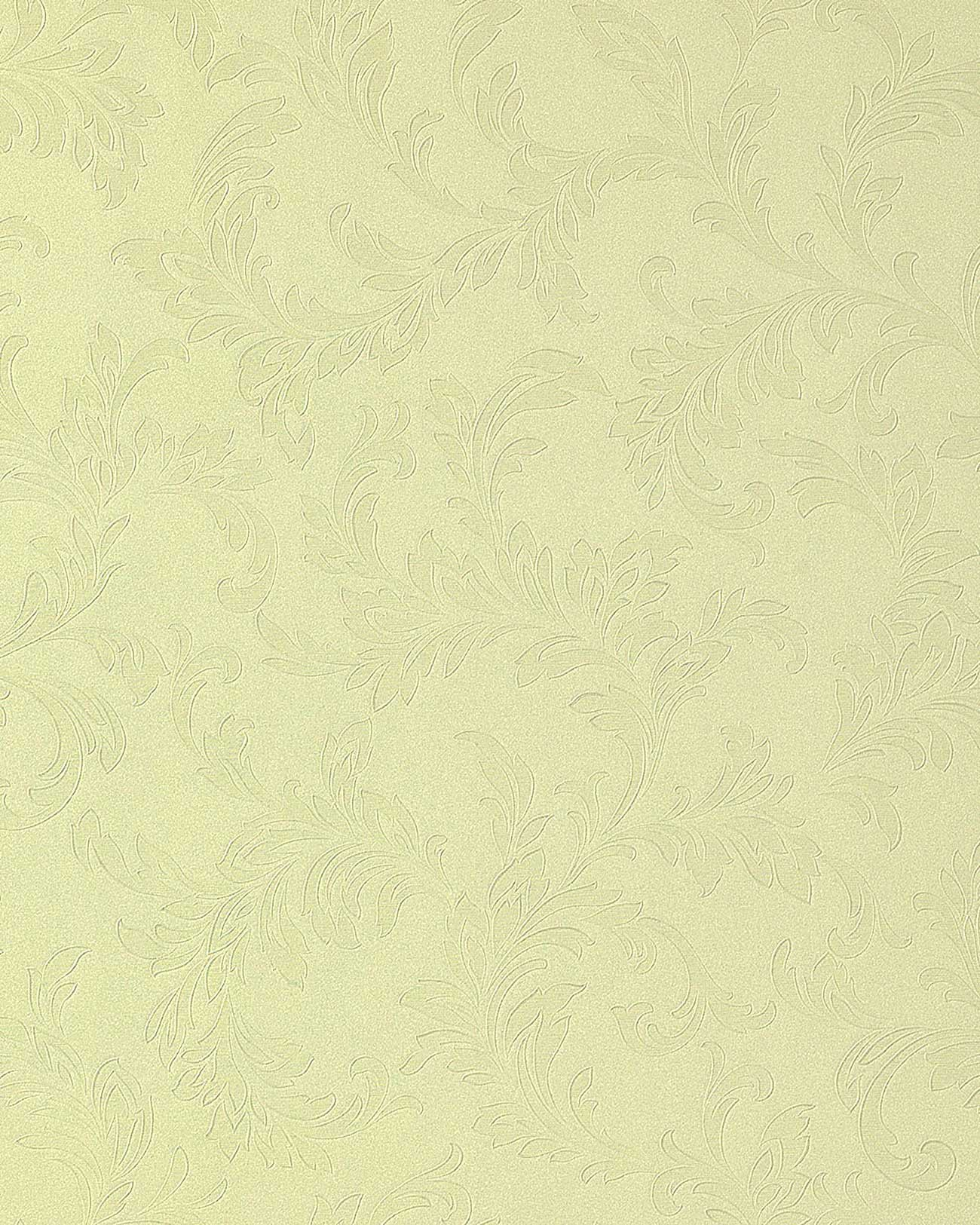 papier peint motif floral edem 762 28 ton sur ton jaune pastel vanille m2. Black Bedroom Furniture Sets. Home Design Ideas