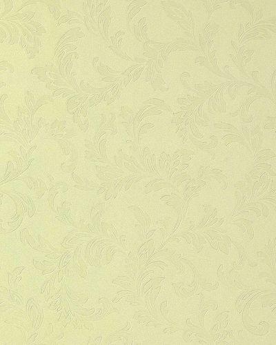 Luxury embossed flowers wall wallpaper 762-28 Wall covering floral tone on tone pastel yellow ivory  – Bild 1