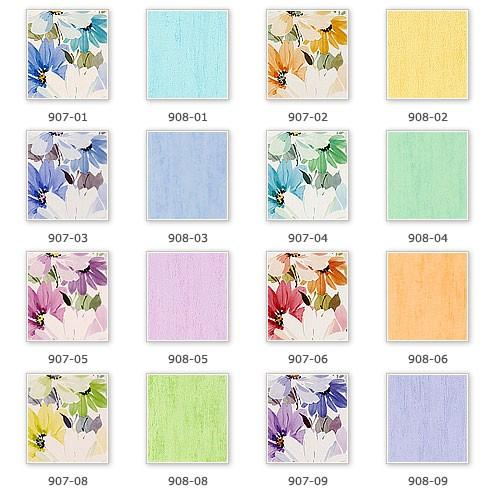 Vliesbehang XXL EDEM 907-05 bloemen behang met textiel structuur wit violet licht roze paars groen l 10,65 qm – Bild 3