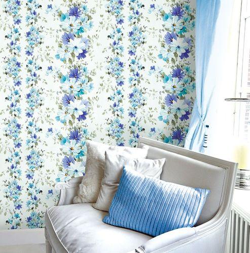 Vliesbehang XXL EDEM 907-08 bloemen behang met textiel structuur wit geel-groen licht groen grijs l 10,65 m2 – Bild 2