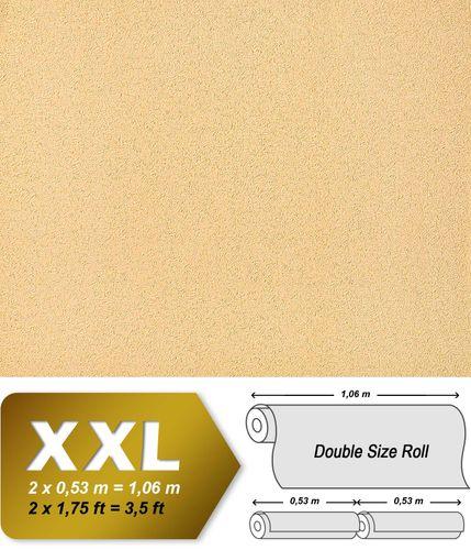 Carta da parati di lusso rilievo EDEM 917-23 in giallo arancione albicocca oro TNT non tessuto 10,65 mq - Rivestimento murale