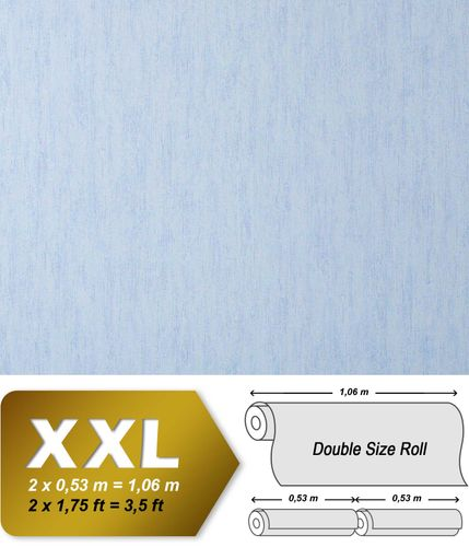 Vintage fabric textile look wallpaper wall EDEM 908-03 luxury wallcovering non-woven plain light blue light lilac  – Bild 1