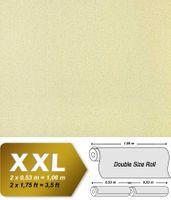Uni Tapete Vliestapete EDEM 917-27 Hochwertige Luxus Tapete in XXL geprägte grün-beige Struktur | 10,65 qm
