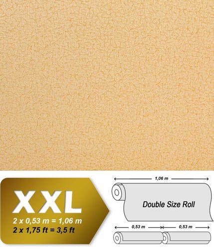 Textiltapete Vliestapete EDEM 948-22 Tapete XXL Vintage Lederlook Falten-Optik Seidenglanz gelb hell karamell 10,65 qm – Bild 1