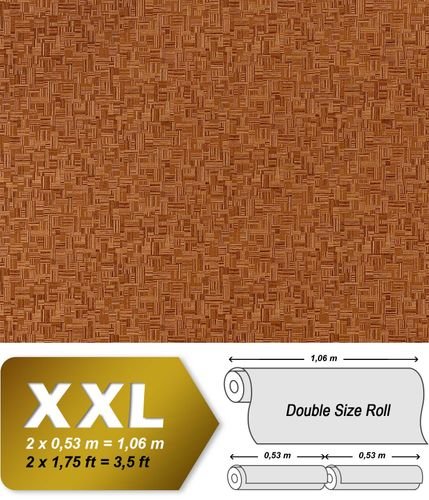 Embossed bamboo non-woven wall covering EDEM 951-25 Wallpaper wall deluxe wood look mosaic decor beige-brown XXL – Bild 1