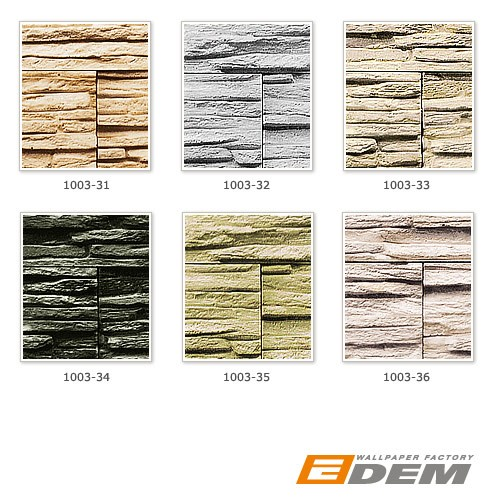Stone natural textured wallcovering wallpaper wall vinyl modern 1003-31 brick decor washable sand beige brown  – Bild 2