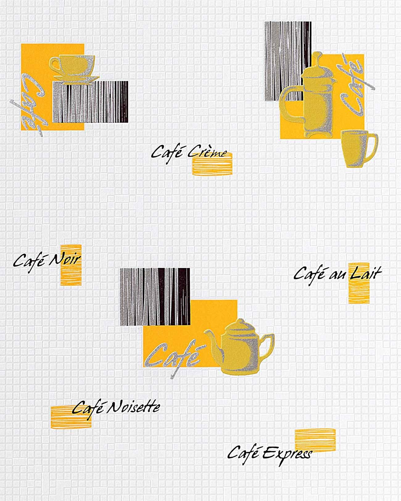 Carta da parati caff piastrelle mosaico edem 062 21 per - Carta parati cucina lavabile ...