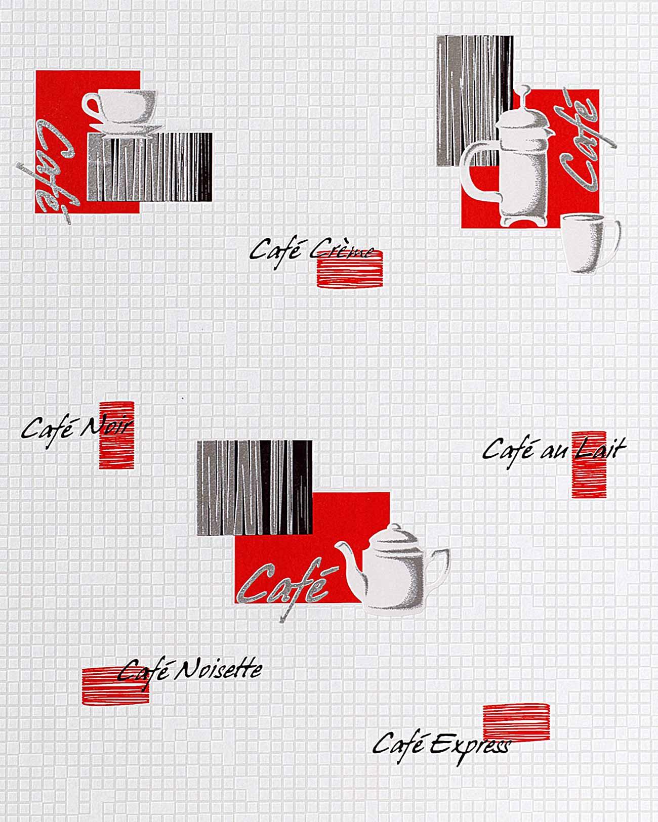 K chen tapete edem 062 24 tapete caf kaffeehaus motive for Tapete rot silber