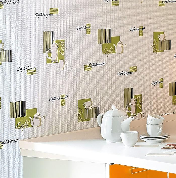 Carta da parati caffé piastrelle mosaico EDEM 062-24 per cucina e bagno  lavabile bianco crema rosso nero argento