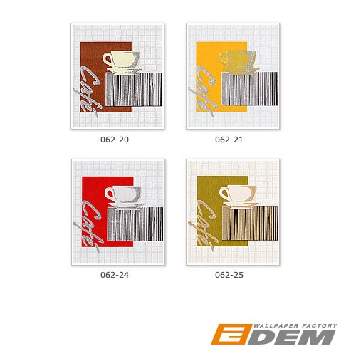 Washable wallpaper wall EDEM 062-24 Wallcovering vinyl coffee mosaic tile decor white creme red  – Bild 4