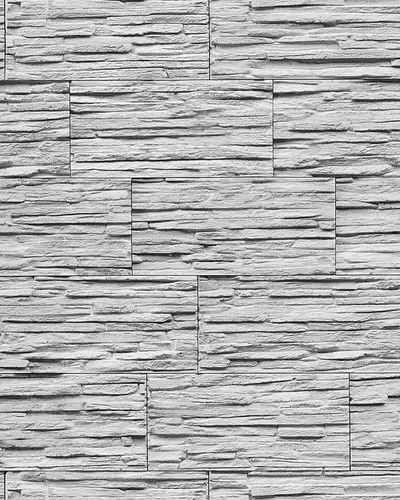 Stone natural textured wallcovering wallpaper wall vinyl modern 1003-32 brick decor washable grey nature white  – Bild 1