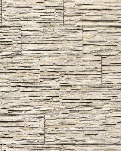 Stone natural textured wallcovering wallpaper wall vinyl modern 1003-33 brick decor washable beige white grey  – Bild 1