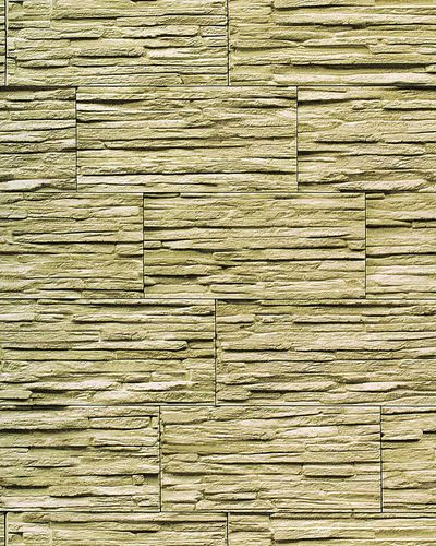 Stone natural textured wallcovering wallpaper wall vinyl modern 1003-35 brick decor washable olive-green green  – Bild 1