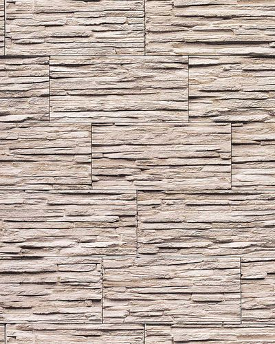 Stone natural textured wallcovering wallpaper wall vinyl modern 1003-36 brick decor washable natural white grey  – Bild 1