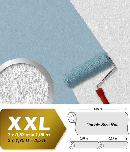 Wall wallpaper non woven wallcovering EDEM 378-60 paintable XXL textured ceiling white  – Bild 1