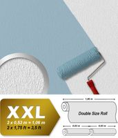 Wall wallpaper non woven wallcovering EDEM 378-60 paintable XXL textured ceiling white  001