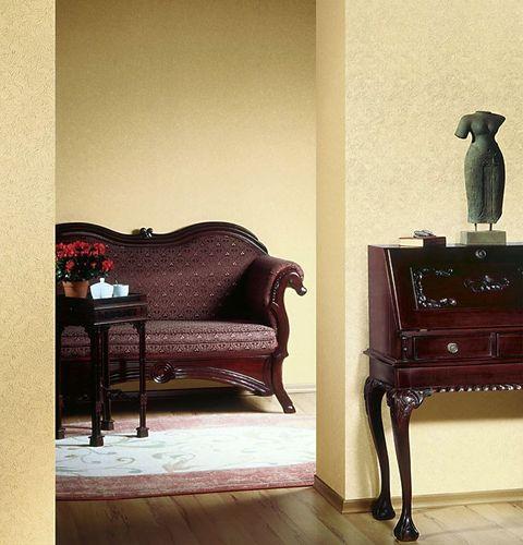 Papel pintado gofrado de alta calidad con textura EDEM 706-21 estampada en caliente y relieve noble amarillo azafrán oro – Imagen 3