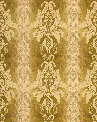 3D Barock-Tapete Damask EDEM 770-31 Luxus Tapete hochwertige 3D Brokat Struktur olive-grün pistazien hell grün bronze – Bild 1