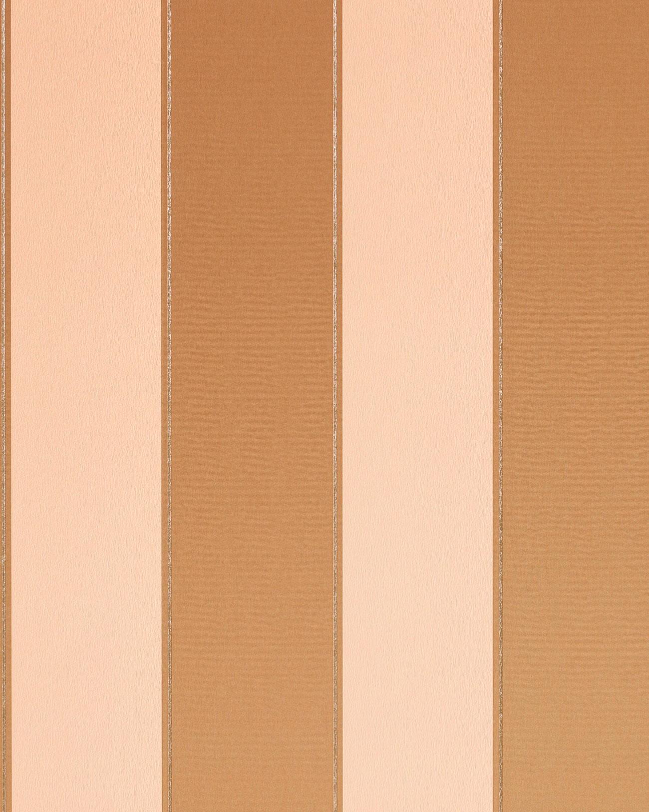Carta da parati disegno classico EDEM 771-32 a righe colore marrone chiaro caramello beige platino