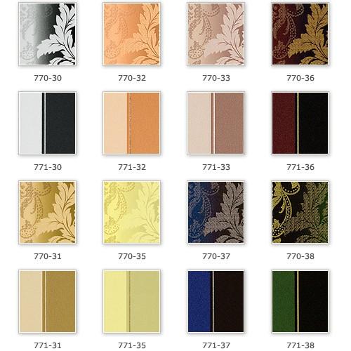 Streifen Tapete EDEM 771-32 Vinyl Tapete Luxus Hochwertig Barock hell-braun karamellbraun beige platin – Bild 4