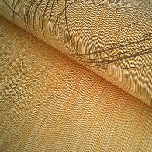 Glossy effects wall covering style fine stripes EDEM 1020-11 Wallpaper metallic look gold-yellow gold  – Bild 3