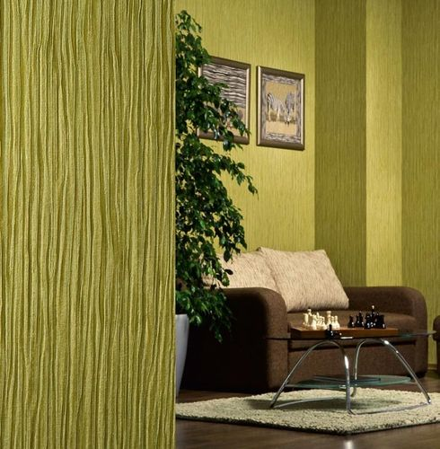 Wallpaper wall heavy-weight vinyl EDEM 715-26 Wall covering embossed stripe caramel light brown rose gold  – Bild 3