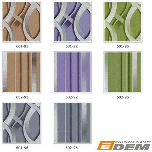 Carta da parati XXL EDEM 601-92 non tessuta disegno grafico astratto a catene 3D retrò lilla grigio argento 10,65 qm – Bild 7