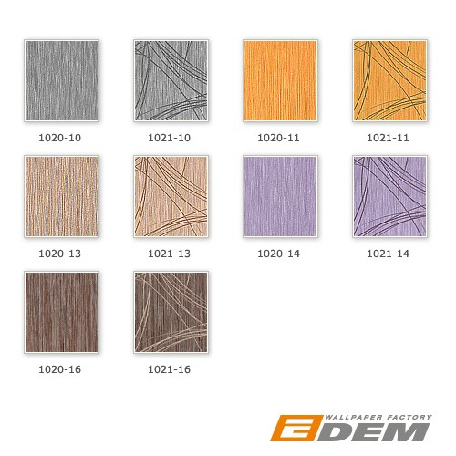 Glossy effects wall covering style fine stripes EDEM 1020-14 Wallpaper metallic look violet lilac silver  – Bild 4