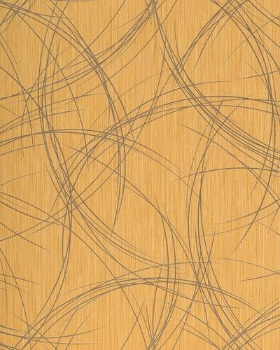 Style crack circle texture wallpaper wall covering EDEM 1021-11 glossy metallic look gold-yellow gold  – Bild 1