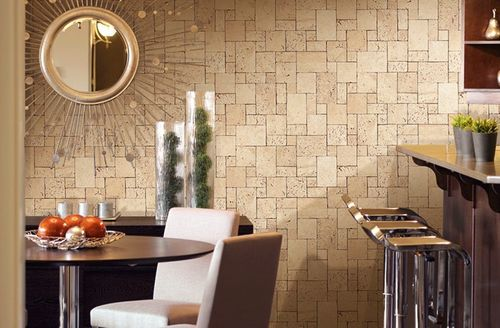 Cubes natural brick wallpaper wall EDEM 957-23 Wallcovering non-woven textured stone decor lava brown XXL roll – Bild 2