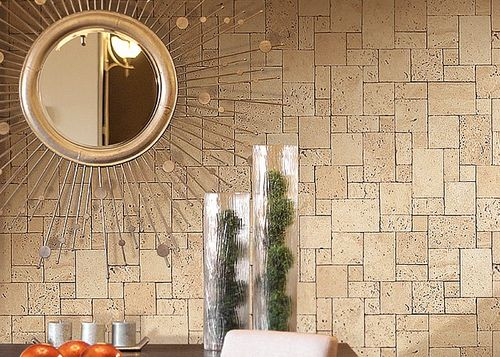 Cubes natural brick wallpaper wall EDEM 957-23 Wallcovering non-woven textured stone decor lava brown XXL roll – Bild 3