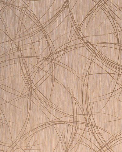 Style crack circle texture wallpaper wall covering EDEM 1021-13 glossy metallic look light brown silver  – Bild 1