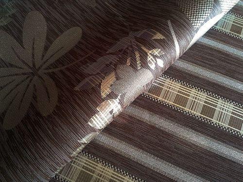 Streifen Tapete Vliestapete EDEM 640-94 Textilstruktur mit Karomuster XXL Tapete braun bronze silber 10,65 qm – Bild 3
