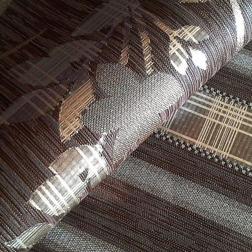 Papel pintado no tejido XXL EDEM 640-94 de aspecto cortina a rayas color chocolate marrón bronce plata 10,65 m2 – Imagen 2