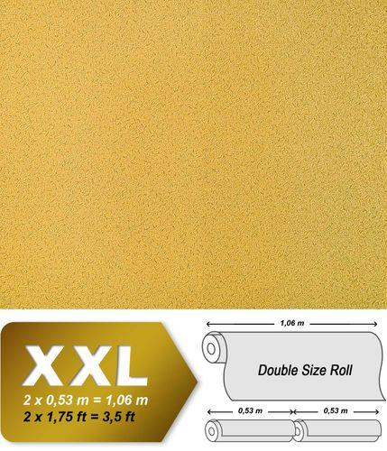 Uni Tapete Vliestapete EDEM 917-22 Tapete in XXL Hochwertige Luxus geprägte Struktur Tapete gelb-gold | 10,65 qm