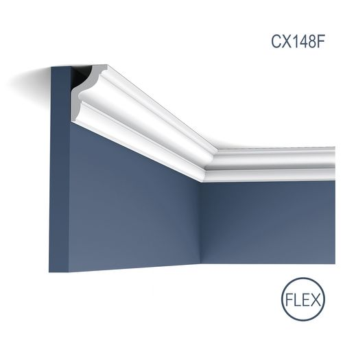 Stucco Decoration Flexible Cornice Moulding 2 m Orac Decor CX148F AXXENT Panel Moulding  – Bild 1