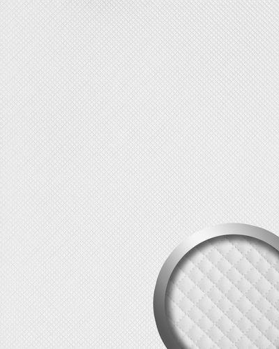 Wandpaneel leer design ruiten motief WallFace 16419 ROMBO Muurpaneel wandbekleding zelfklevend behang wit mat 2,60 m2 – Bild 1