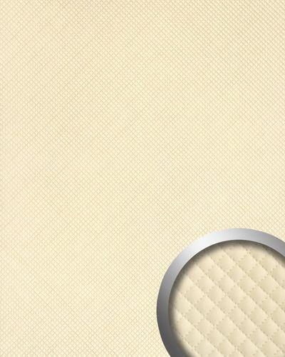 Wandpaneel Leder Design Karo Muster WallFace 15657 ROMBO Wandplatte Wandverkleidung selbstklebend creme | 2,60 qm – Bild 1