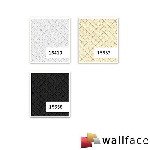 Wandpaneel leer design ruiten motief WallFace 15657 ROMBO Muurpaneel wandbekleding zelfklevend behang creme 2,60 m2 – Bild 3