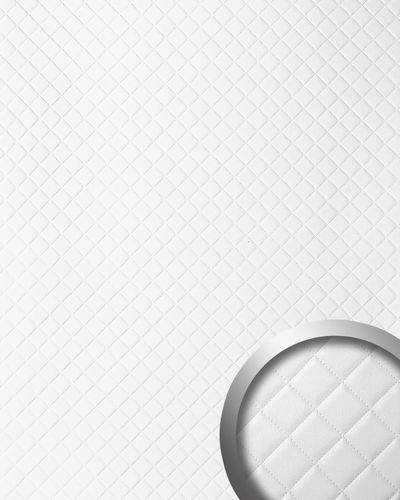 Wandpaneel Leder Design Karo Muster WallFace 15041 ROMBO Wandplatte Wandverkleidung selbstklebend weiß matt | 2,60 qm – Bild 1