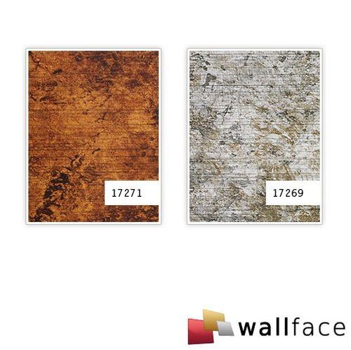 Pannello murale Design pelle Vintage Look WallFace 17271 VINTAGE rivestimento autoadesivo rame marrone 2,60 mq – Bild 3
