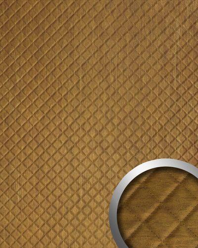 Wandpaneel Leder Design Karo Muster Wandplatte WallFace 17850 ROMBO Oxy Wandverkleidung selbstklebend braun | 2,60 qm – Bild 1