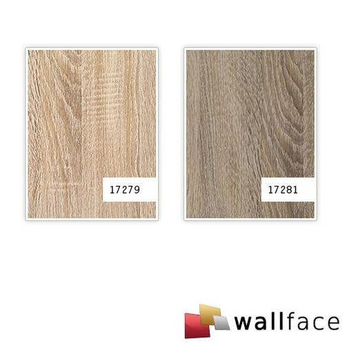 Panel decorativo autoadhesivo de lujo WallFace 17279 DECO OAK TREE Decoración de madera beige 2,60 m2 – Imagen 3