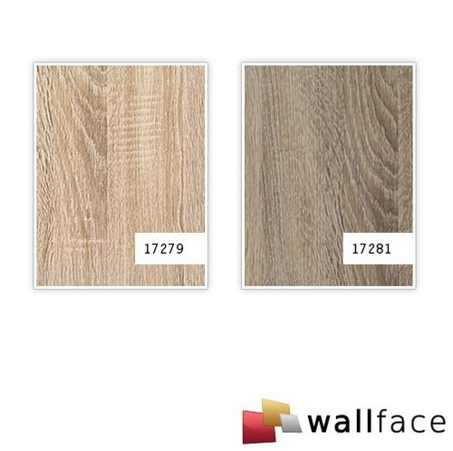 Panel decorativo autoadhesivo de lujo WallFace 17281 DECO OAK TREE Decoración de madera gris 2,60 m2 – Imagen 2