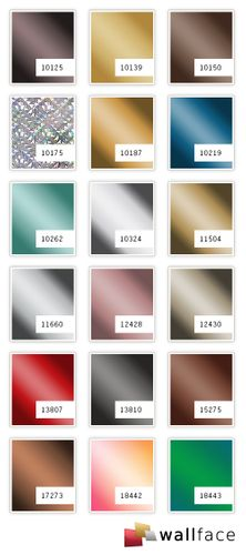 Panel decorativo autoadhesivo Optica de metal WallFace 10175 DECO GALAXY brillante espejado plateado 2,60 m2 – Imagen 2
