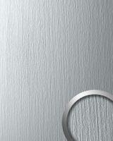 Wandverkleidung 12447 DECO SILVER Metall-Matt Struktur Optik Hell Grau