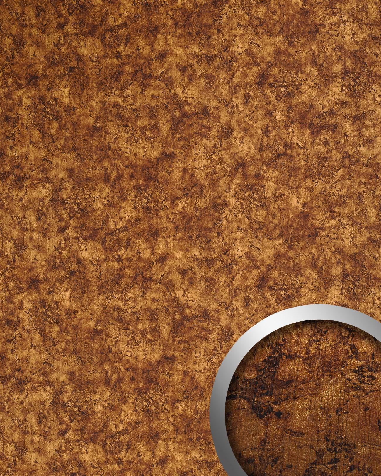 wallface 17277 deco vintage wandpaneel metall rost optik kupfer braun 2 60 qm ebay. Black Bedroom Furniture Sets. Home Design Ideas