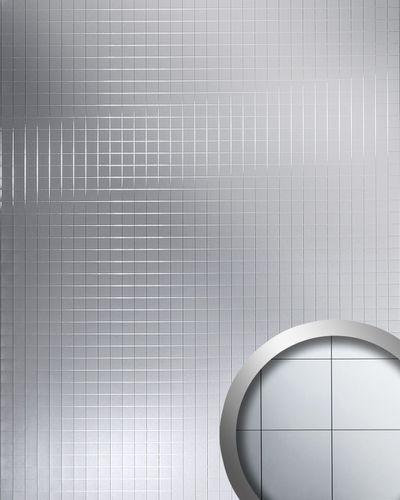 Wandpaneel Mosaik Classic spiegelnd selbstklebend silber WallFace 14279 M-Style Spiegel Wandverkleidung Design | 2,60 qm – Bild 1