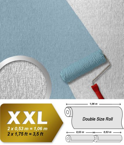 Wallpaper paintable non-woven wall covering EDEM 374-60 XXL textured ceiling white  – Bild 1