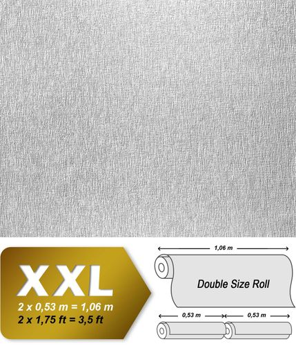 Wallpaper paintable non-woven wall covering EDEM 374-60 XXL textured ceiling white  – Bild 2